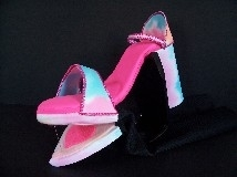 Pink and Blue Glamour Shoe